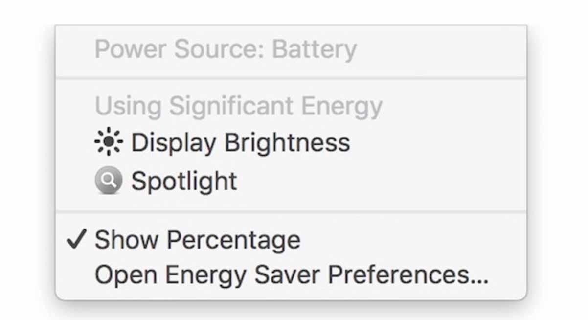 「macOS Sierra 10.12.3 beta 4」ではディスプレイの輝度が高くなり過ぎると電源ステータスに警告を表示