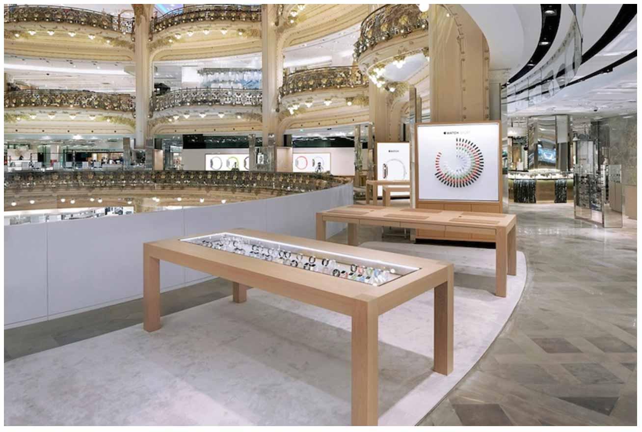 パリのGaleries Lafayetteにあった「Apple Watch」のポップアップショップが閉店