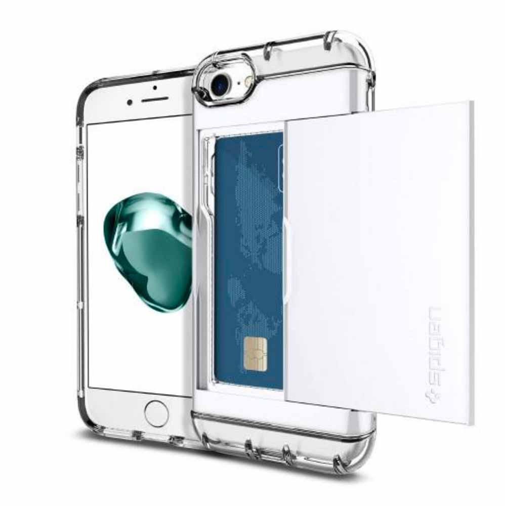 【発売記念30%オフ】Spigen、スライド式カード収納ケースを搭載したiPhone 7/7 Plus用「クリスタル・ウォレット」販売開始