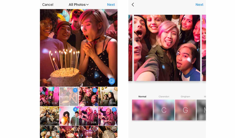 Instagram、1つの投稿に最大の10枚の写真と動画が投稿できる新機能を公開 ― iOSアプリver.10.9で順次利用可能に