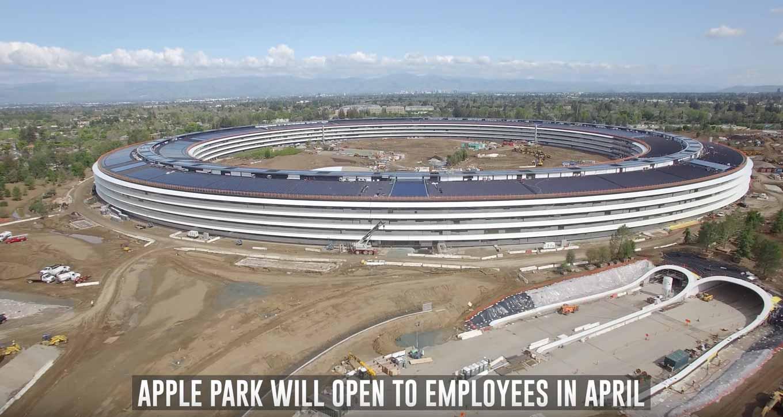 Appleの新社屋「Apple Park」建設現場の最新4K空撮動画(2017年4月)
