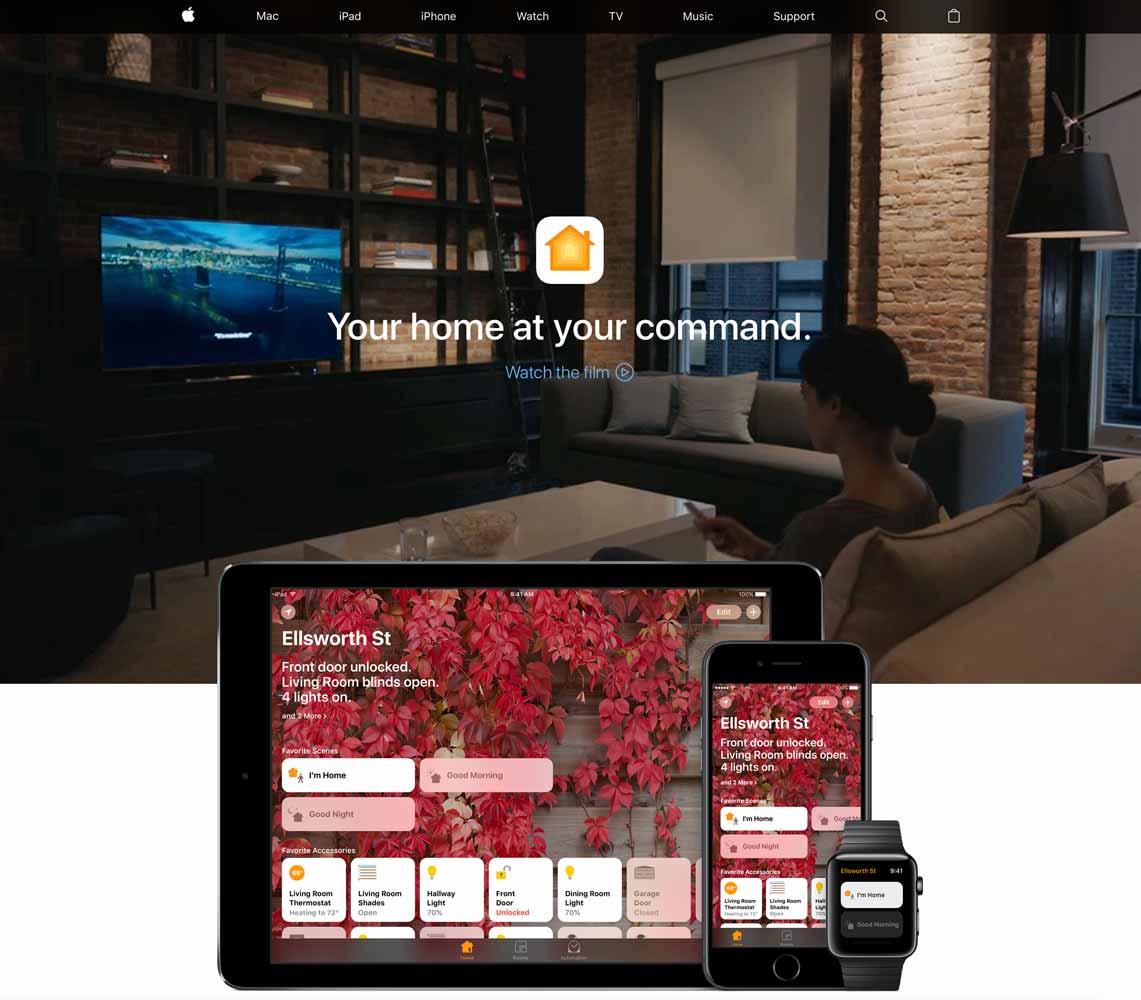 米Apple、「Home」アプリ紹介ページを更新 ― 45秒のCMも公開