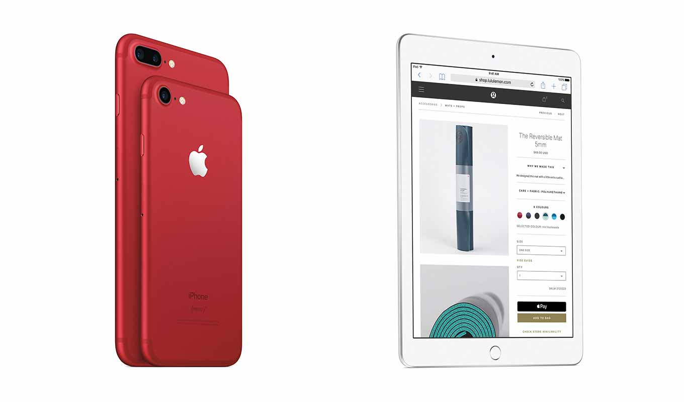 KDDI、iPhone 7とiPhone 7 Plusの「(PRODUCT)RED Special Edition」と新しい「iPad」を取り扱いへ