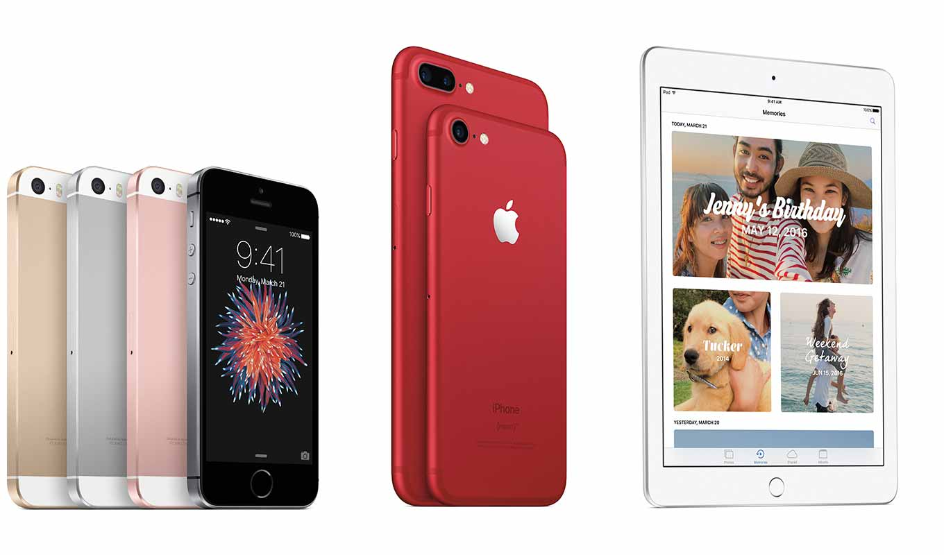 Apple、「iPhone 7 (PRODUCT)RED Special Edition」「iPhone SE」 「iPad(第5世代)」の販売開始