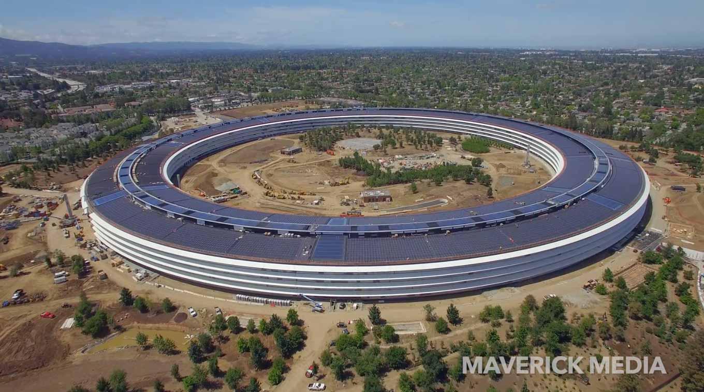 Appleの新社屋「Apple Park」建設現場の最新4K空撮動画「APPLE PARK May 2017 Drone Tour 4K」