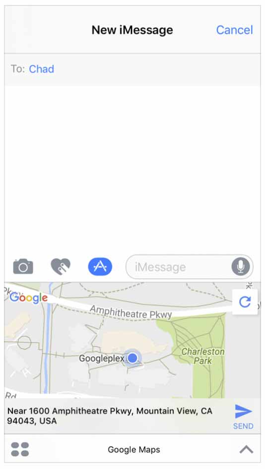 Googlemapmessage