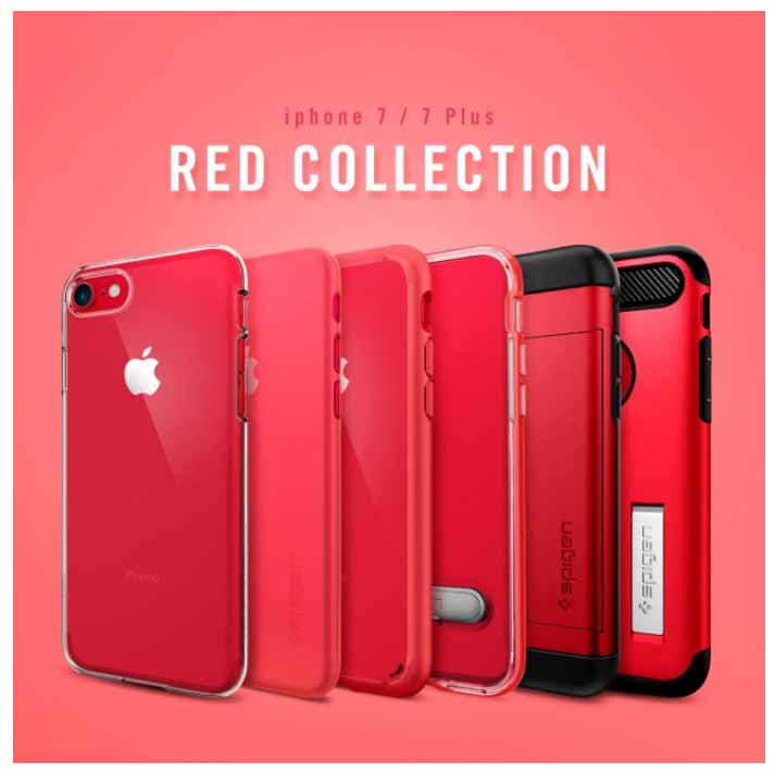 Spigen、「iPhone 7 (PRODUCT)RED Special Edition」にあわせたレッドケースの販売を開始