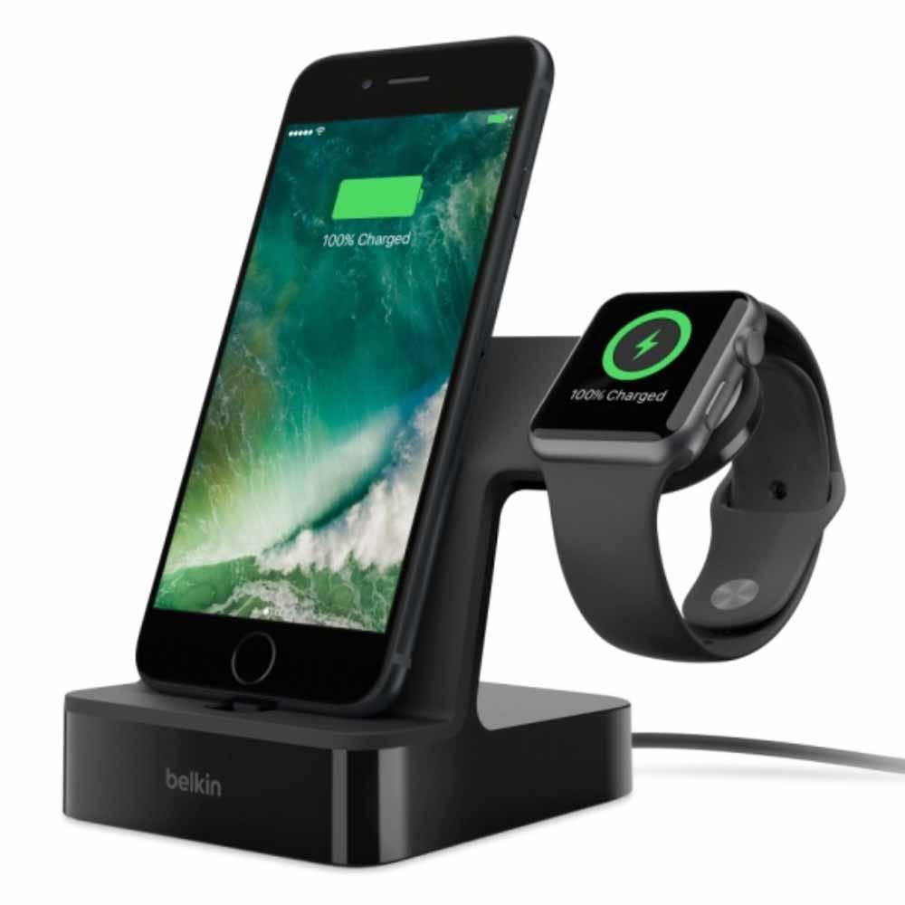 ベルキン、「Powerhouse Charge Dock for Apple Watch + iPhone」に新色ブラックを追加へ