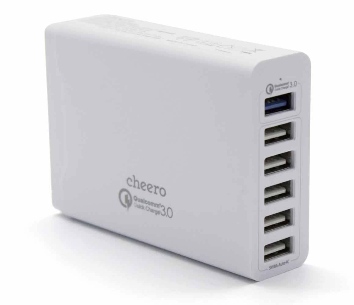 cheero、USB-AC充電器「6 USB AC CHARGER」の販売を開始