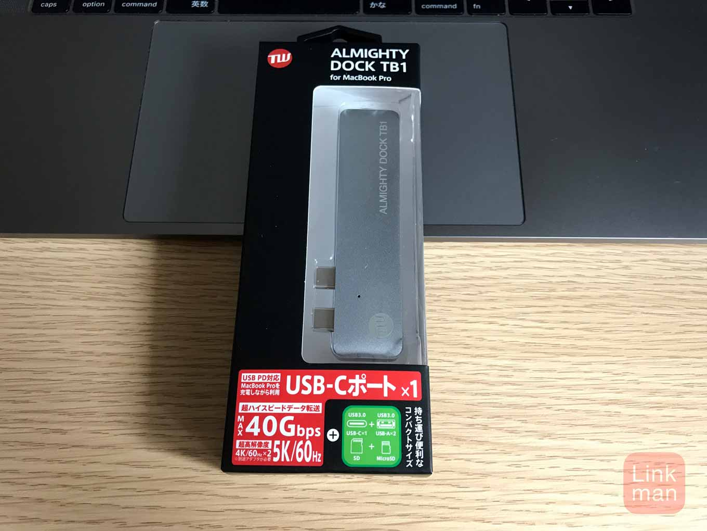 【レビュー】MacBook Pro(2016)向けThunderbolt 3・USB-Cハブ「TUNEWEAR ALMIGHTY DOCK TB1」をチェック