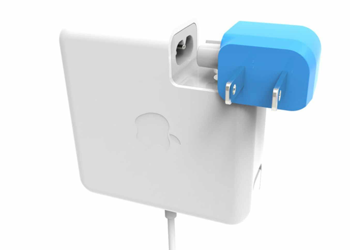 フォーカルポイント、MacBookやiPadの電源アダプタが横向きに挿せる変換プラグ「Ten One Design Blockhead」を発売へ