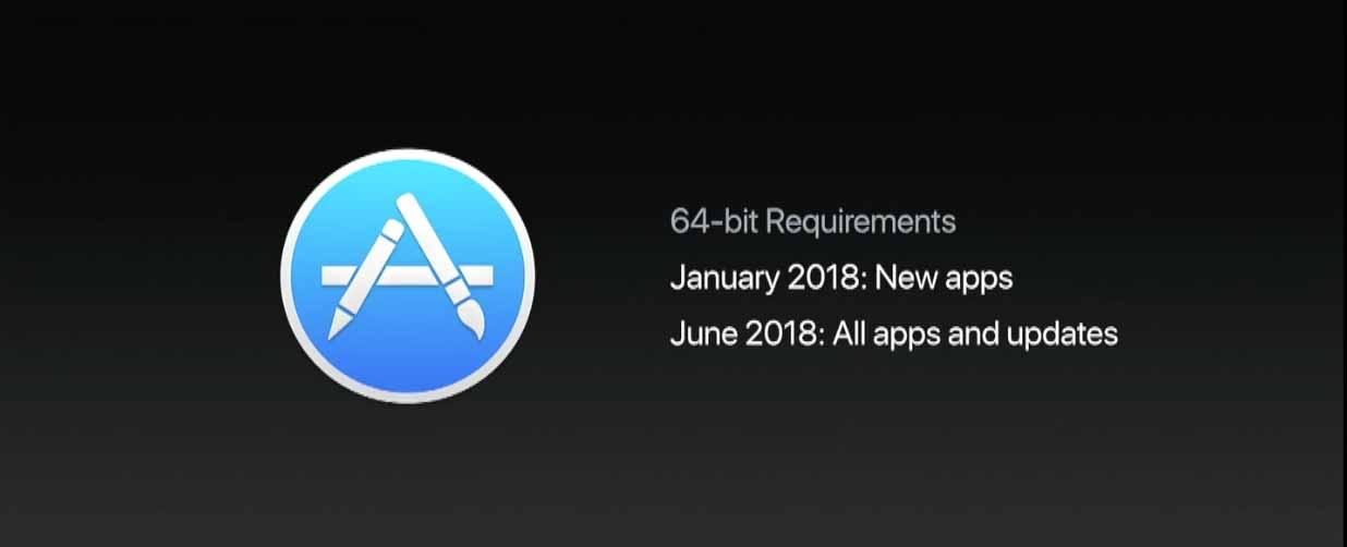 Apple、Mac向けアプリも2018年1月から段階的に32bit版のサポートを終了する方針 ― 「iOS 11」では32bitアプリは起動不可に