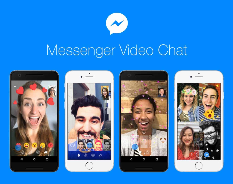 Facebook、「Messenger」アプリのビデオチャット機能に新しい4つの機能を追加