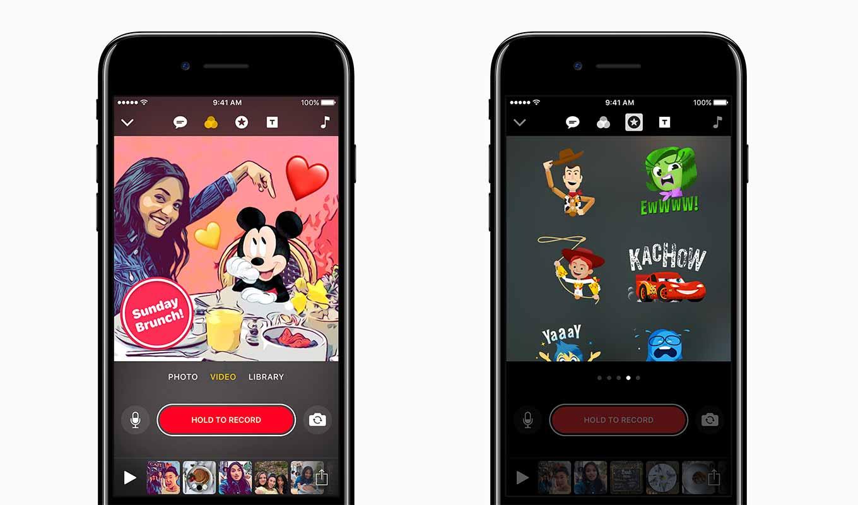 Apple、DisneyやPixarのキャラクターグラフィックスを追加したiOSアプリ「Clips 1.1」リリース