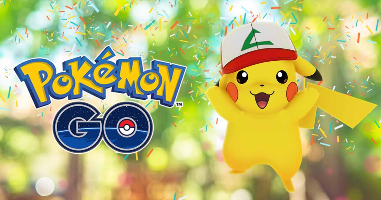 「ポケモンGO」がリリース1周年!期間限定でサトシの帽子をかぶったピカチュウが登場