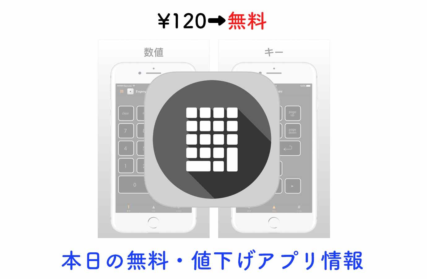 ¥120→無料、iOSデバイスをMacのテンキーとして使える「Remote Keyboard Pad for Mac」など【8/24】本日の無料・値下げアプリ情報
