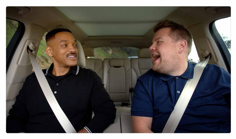 Apple、Apple Musicで8月8日から独占配信する「Carpool Karaoke」の新しいトレーラーを公開