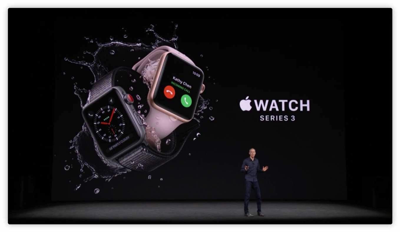 Apple、セルラー機能を搭載した「Apple Watch Series 3」を発表 ― 9月22日から販売開始