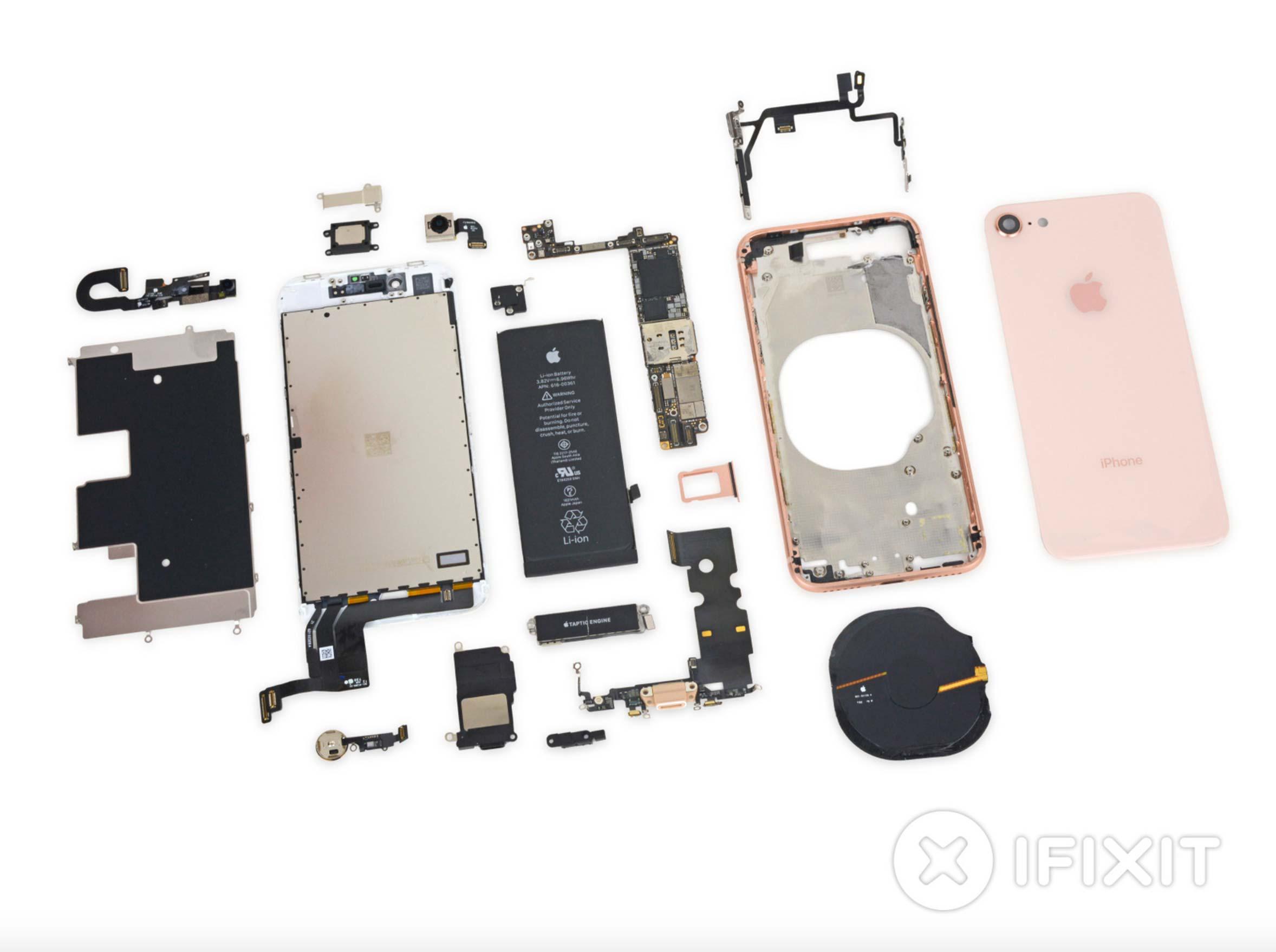iFixit、「iPhone 8」のバラシレポートを公開