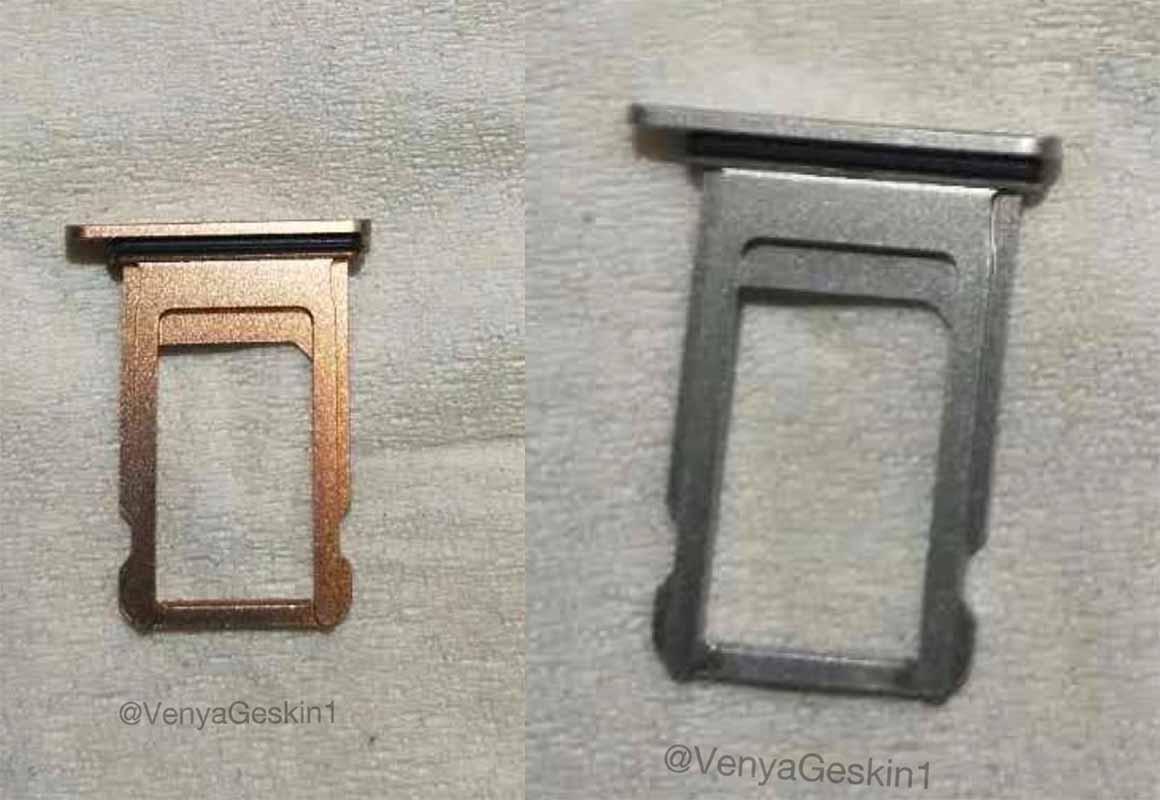 「iPhone 8」のSIMカードトレイのリーク画像!? ― 新色はブラッシュゴールド?