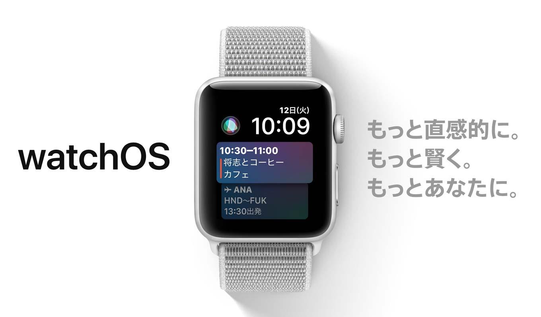 Apple、Apple Watch向けに「watchOS 4」を正式にリリース