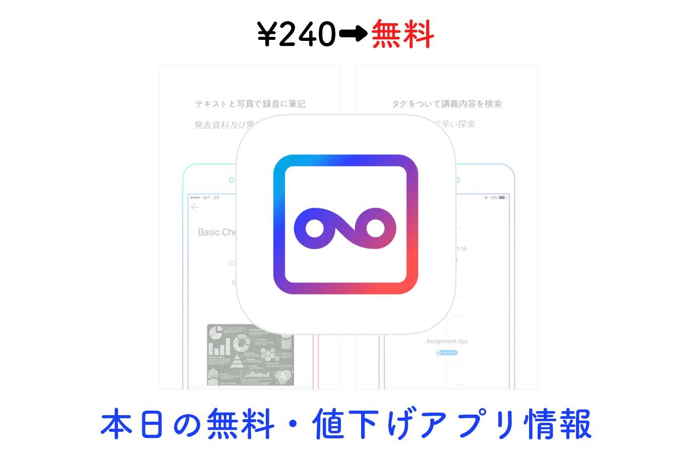 ¥240→無料、写真添付やタグ付けもできるボイスレコーダー「VONO」など【10/15】本日の無料・値下げアプリ情報