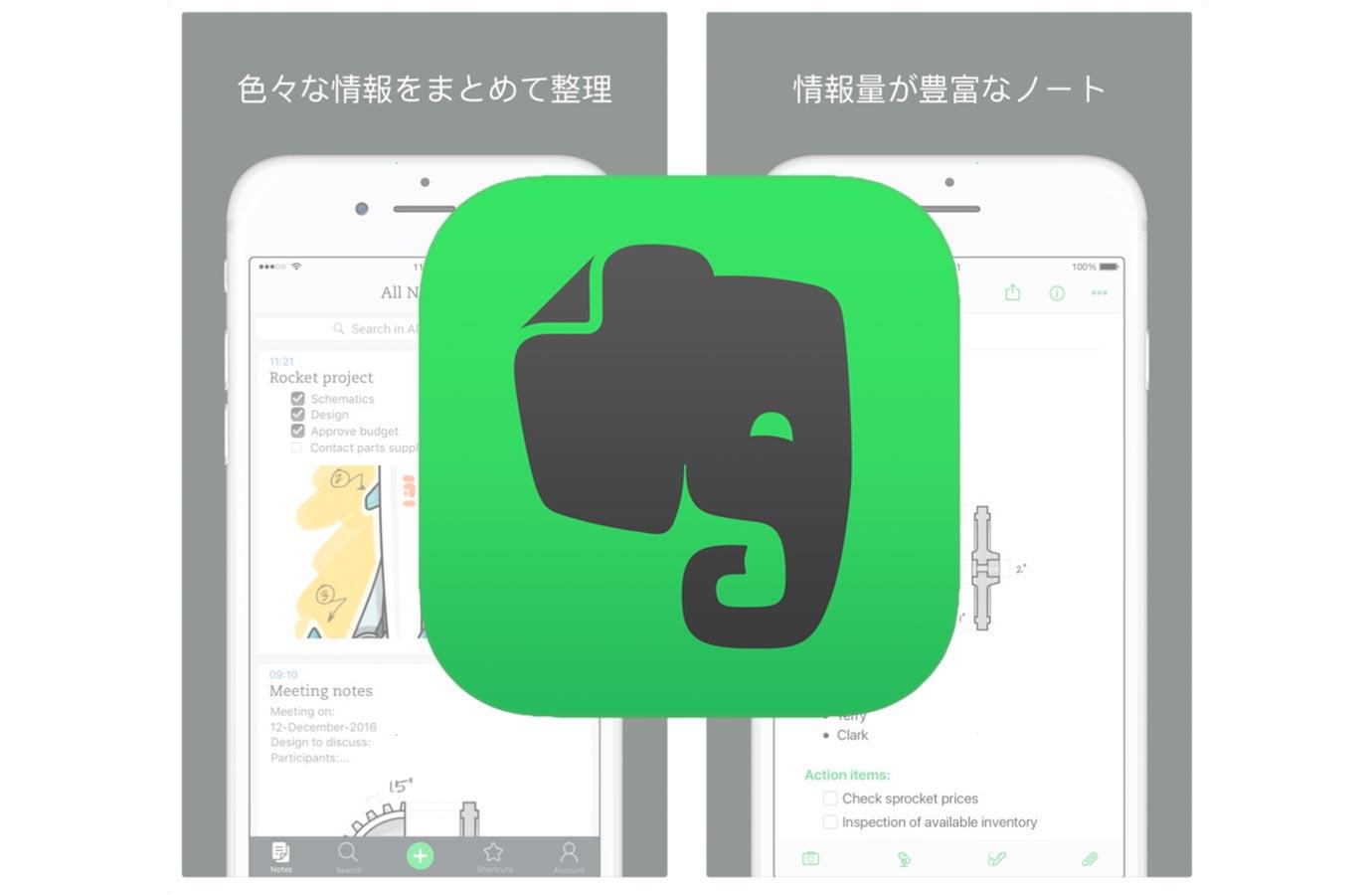 iOSアプリ「Evernote」がアップデートでコードブロックと表を含む、高度な書式の自動設定オプションが利用可能に