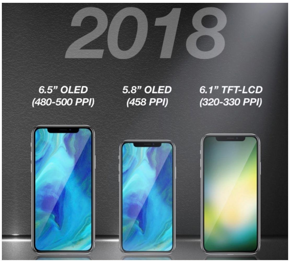 2018年「iPhone」には6.5インチと6.1インチのモデルが追加される!?
