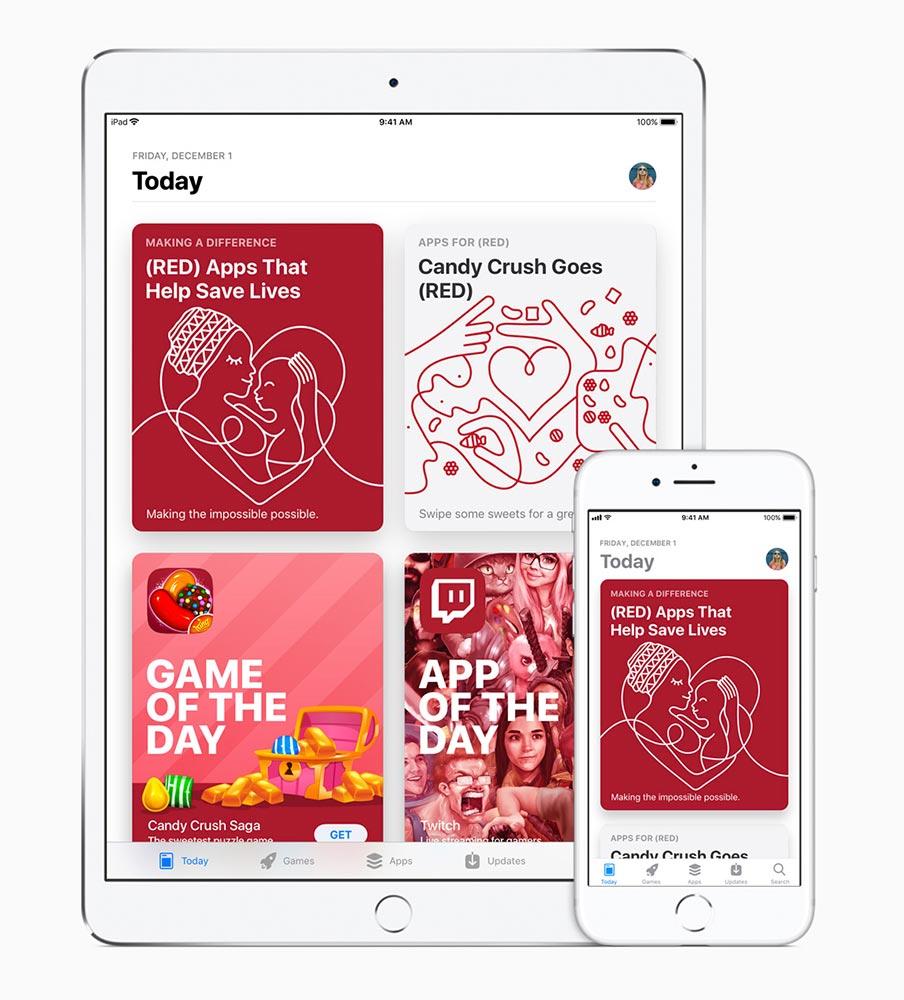 Apple、「世界エイズデー2017」にあわせたチャリティーキャンペーンを発表 ― Apple Storeのロゴを1週間赤色に