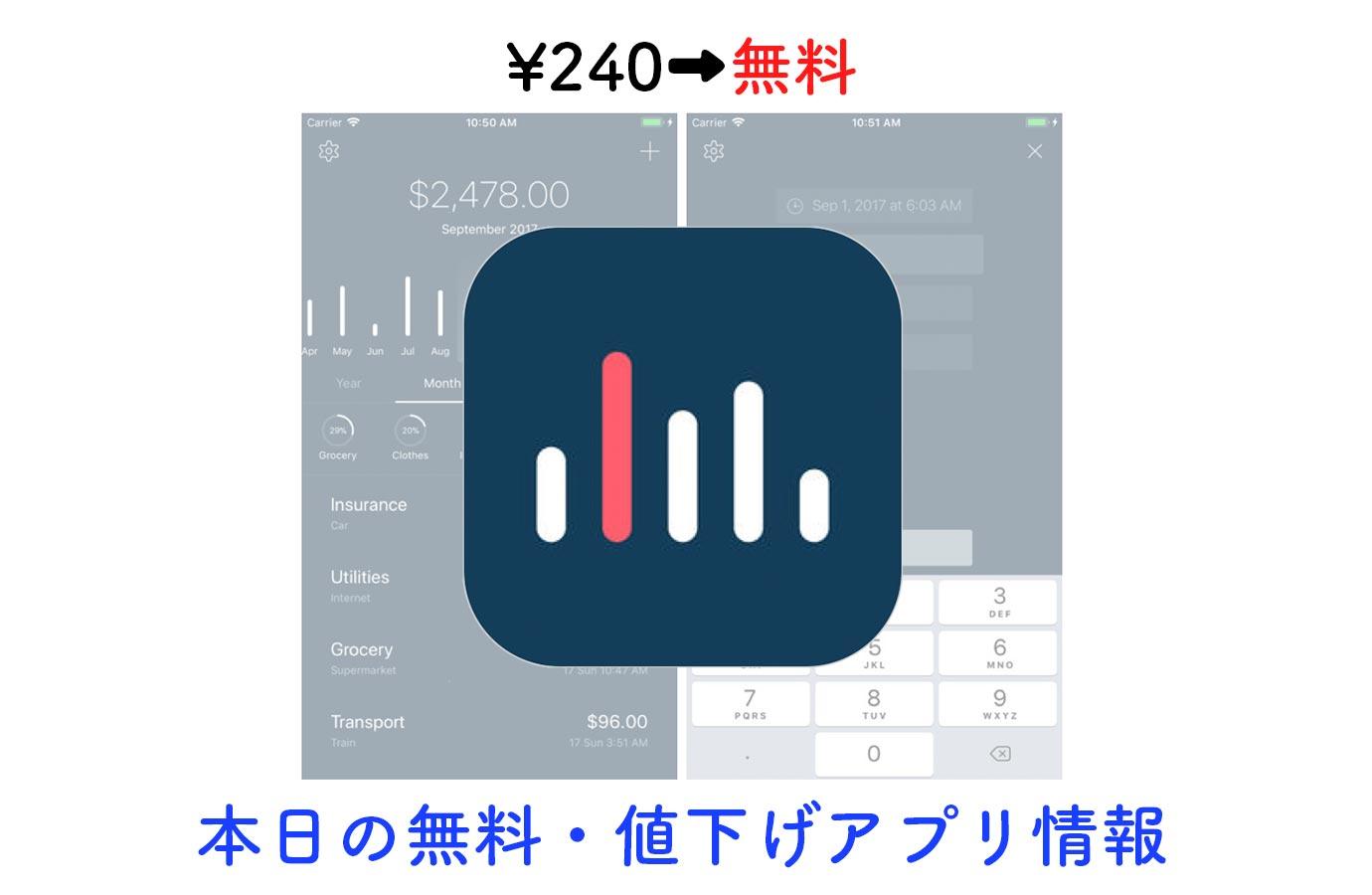 ¥240→無料、シンプルな支出管理アプリ「5coins Expense」など【12/15】本日の無料・値下げアプリ情報