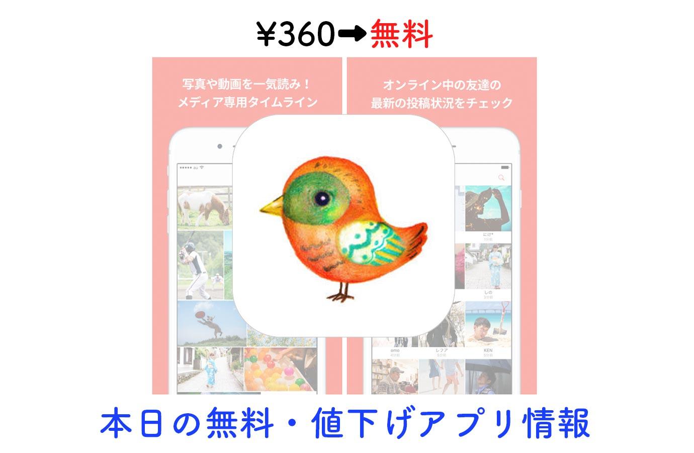 ¥360→無料、Twitterの画像・動画まとめ読みアプリ「Potos for Twitter」など【12/28】本日の無料・値下げアプリ情報