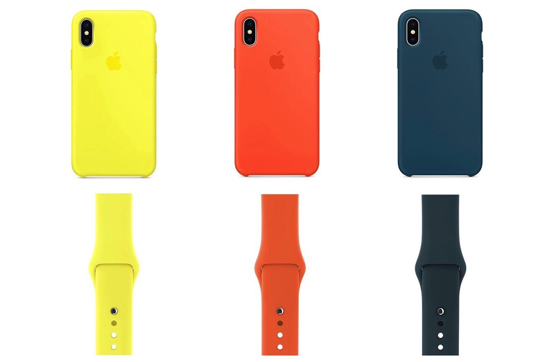 Apple、「iPhone X/8/8 Plus」のシリコンケースと「Apple Watch」のスポーツバンドに新色を追加