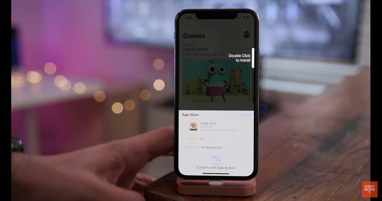 「iOS 11.3 beta」の新機能や変更点をまとめた動画 ー 「iPhone X」のApp Storeでアプリ購入時のダブルクリック操作がわかりやすくなるなど