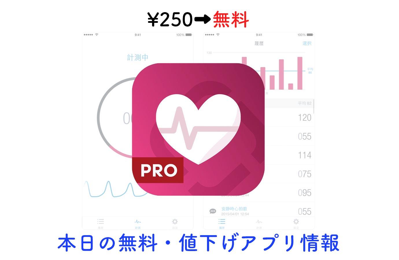 ¥250→無料、iPhoneのカメラを使って心拍数を計測できる「Runtastic 心拍数(脈拍)を測るアプリPRO」など【2/13】本日の無料・値下げアプリ情報
