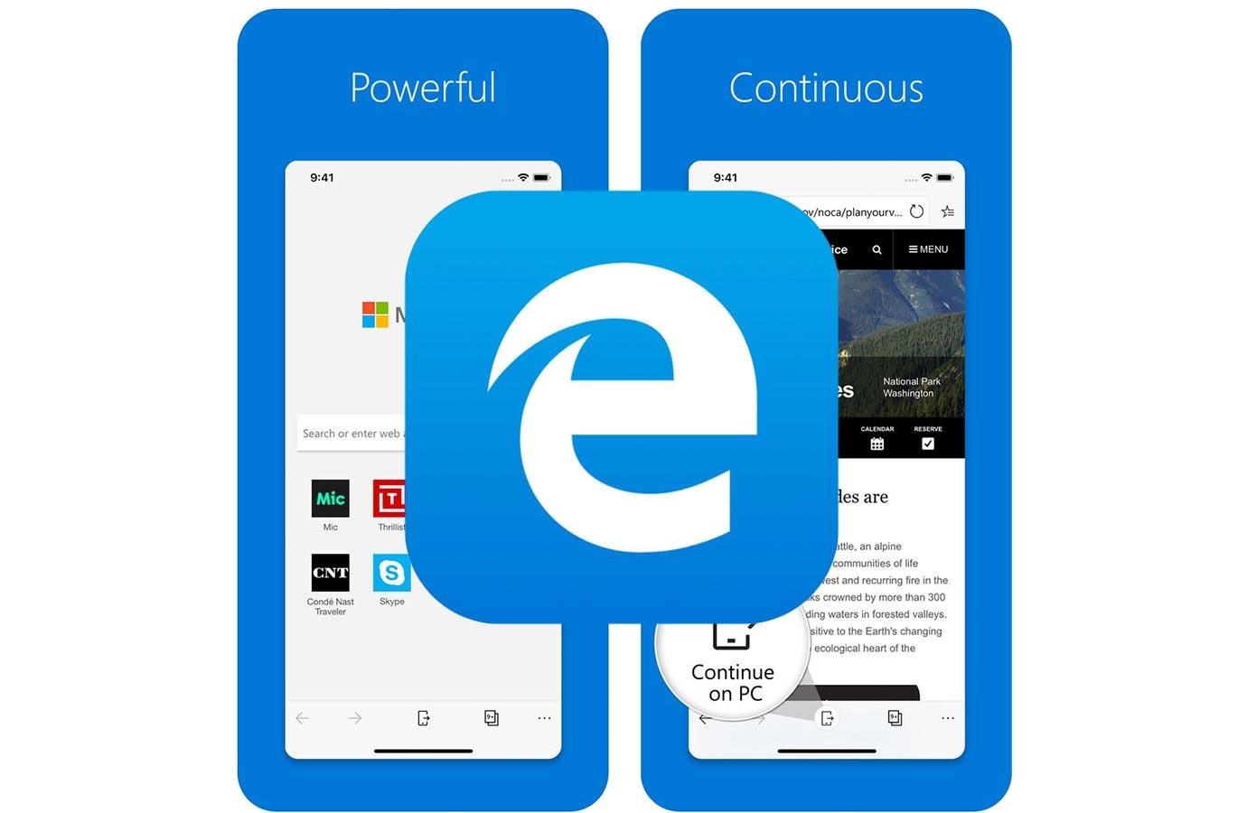 Microsoft、iPhone版ブラウザ「Microsoft Edge」を日本のApp Storeで提供を開始