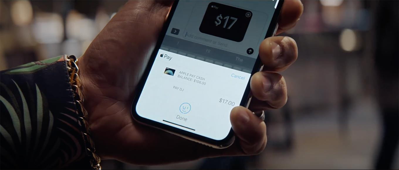 Apple、アメリカで「iPhone X」の新しいCM「Pay with a message」公開