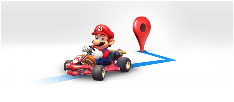 「Google マップ」にマリオカートが期間限定で登場 ― マリオが目的地までナビゲート