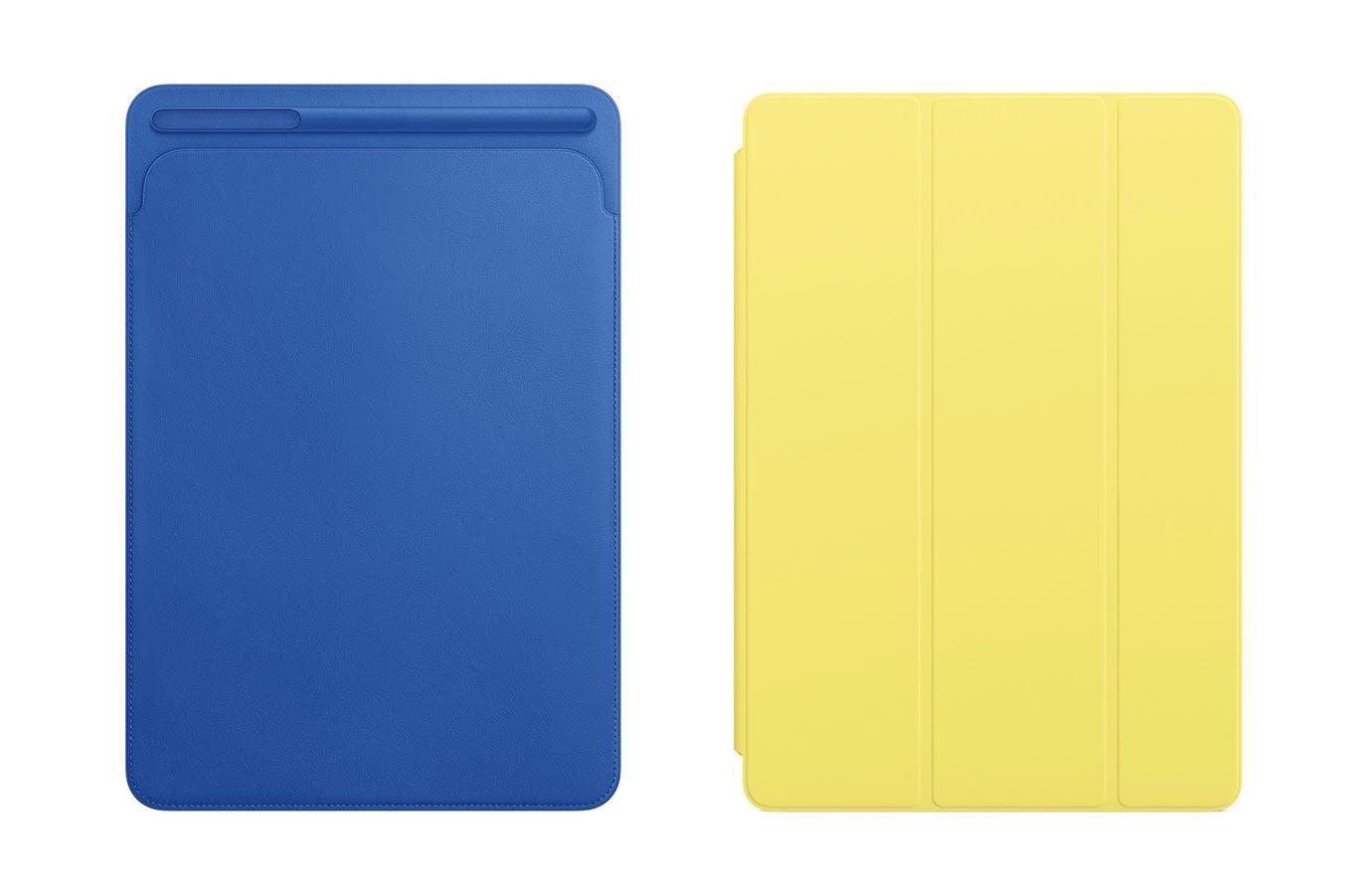 Apple、10.5インチ「iPad Pro」向け「Smart Cover」「レザースリーブ」に新色を追加 ― Apple Pencilケースも新色追加