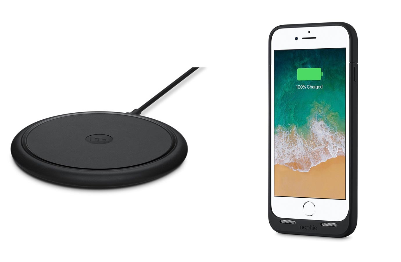 Apple Store、ワイヤレス充電器「mophi ewireless charging base」を1,000円、バッテリー内蔵ケース「mophie juice pack」を2,000円値下げ