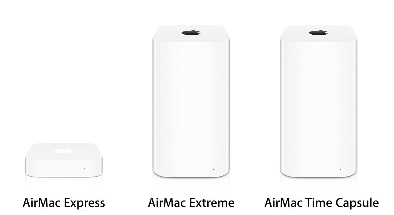 一部の国ではすでに「AirMac」シリーズの販売が終了している模様