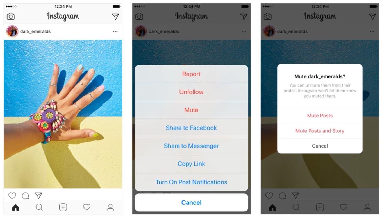 Instagram、「ミュート」機能の提供を開始