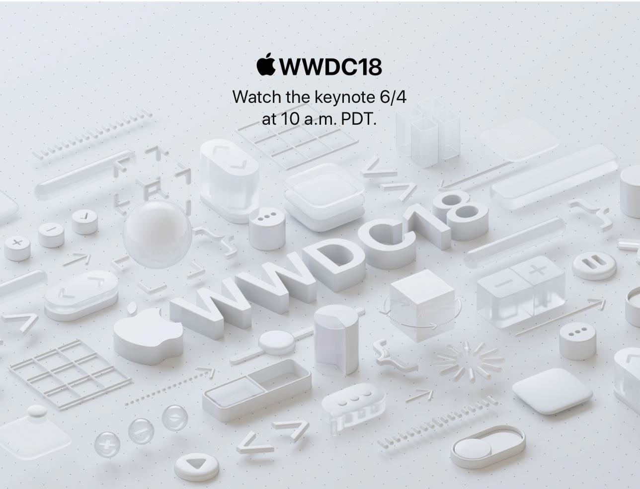 Apple、「WWDC 2018」の基調講演をライブストリーム配信すると発表 ― 日本時間6月5日午前2時から