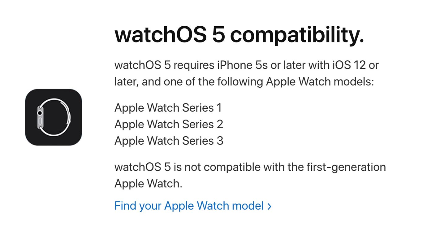 Watchos5compatibility