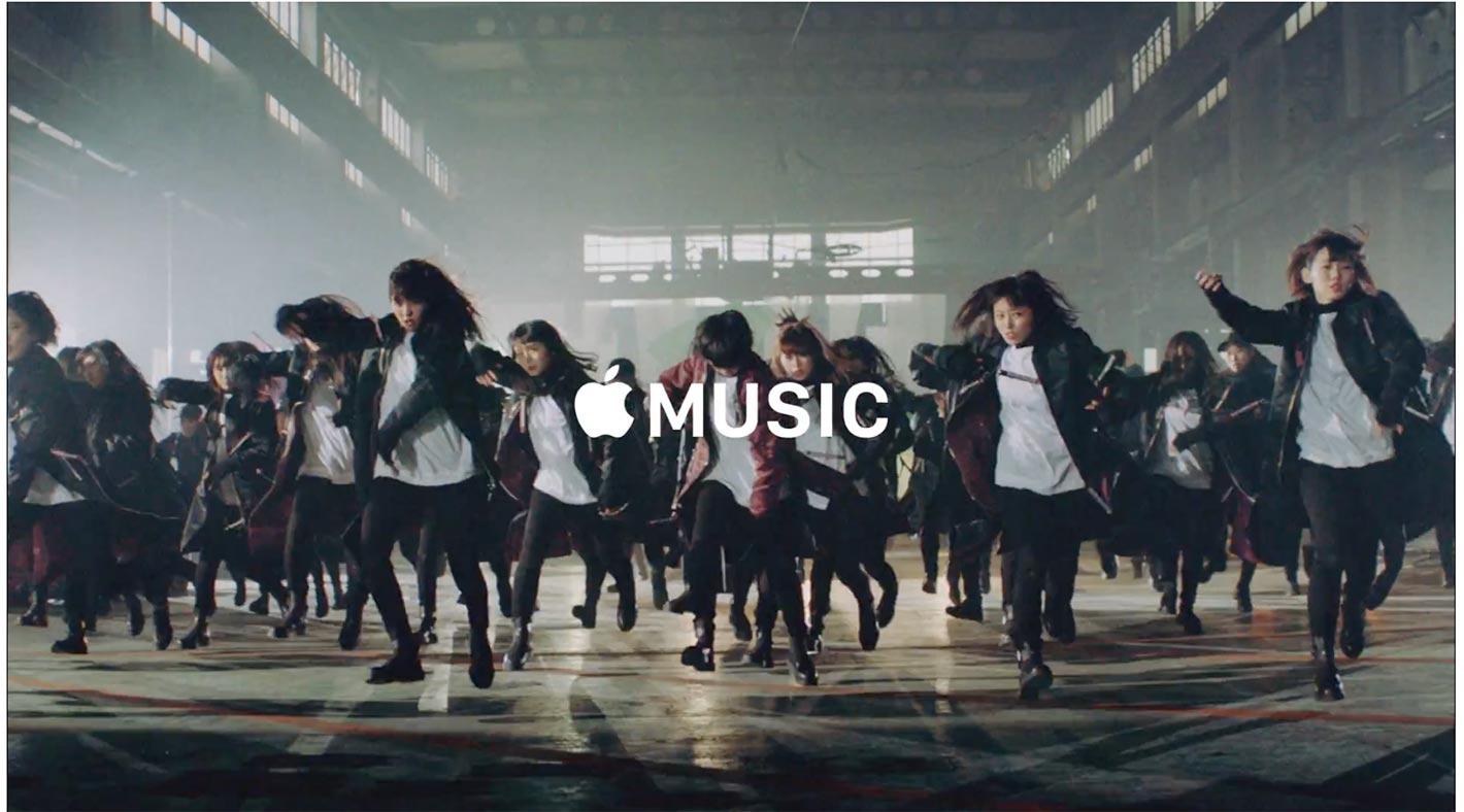 Apple Japan、欅坂46のミュージックビデオを使った「Apple Music」のCM「4,500万曲の世界へ」を公開