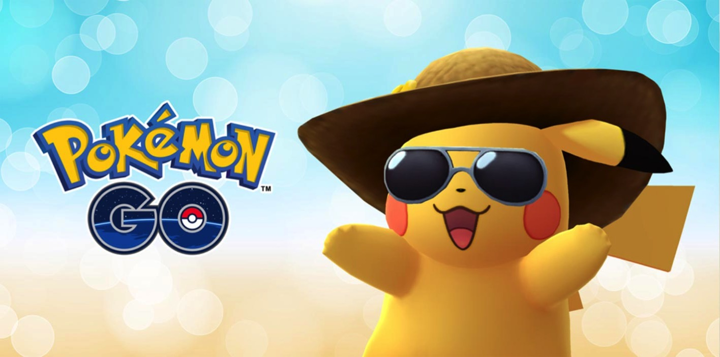 【ポケモンGO】リリース2周年を記念して麦わら帽子とサングラスを着けた「ピカチュウ」が登場