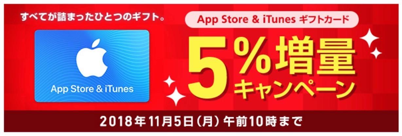 ソフトバンク、「App Store & iTunes ギフトカード5%増量キャンペーン」を実施中(11/5午前10時まで)