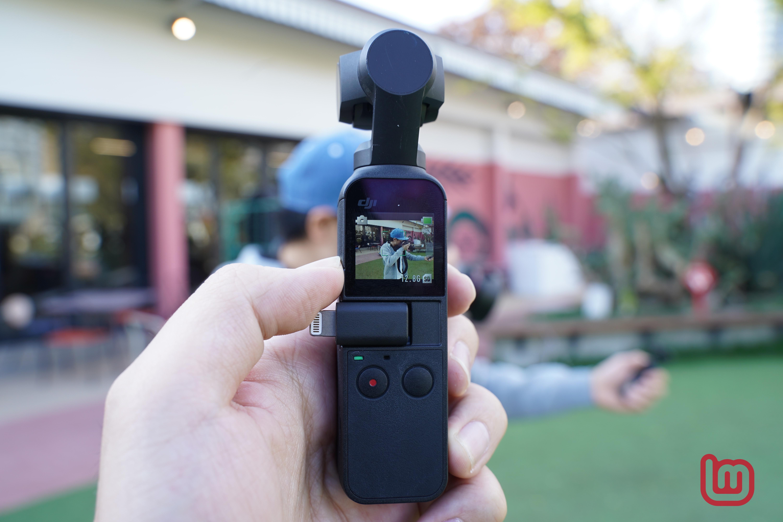 【ハンズオン】3軸ジンバルを搭載した小型カメラ「DJI Osmo Pocket」をチェック
