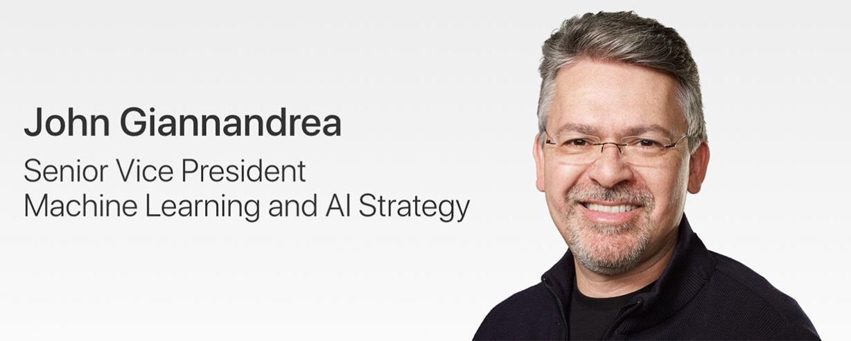 Apple、Machine Learning and AI Strategy担当シニアヴァイスプレジデントにJohn Giannandrea氏が就任