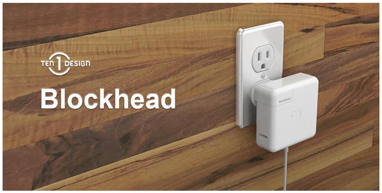 フォーカルポイント、MacBookやiPadの電源アダプタを横向きにできる変換プラグ「Ten One Design Blockhead」のホワイトモデルを発売