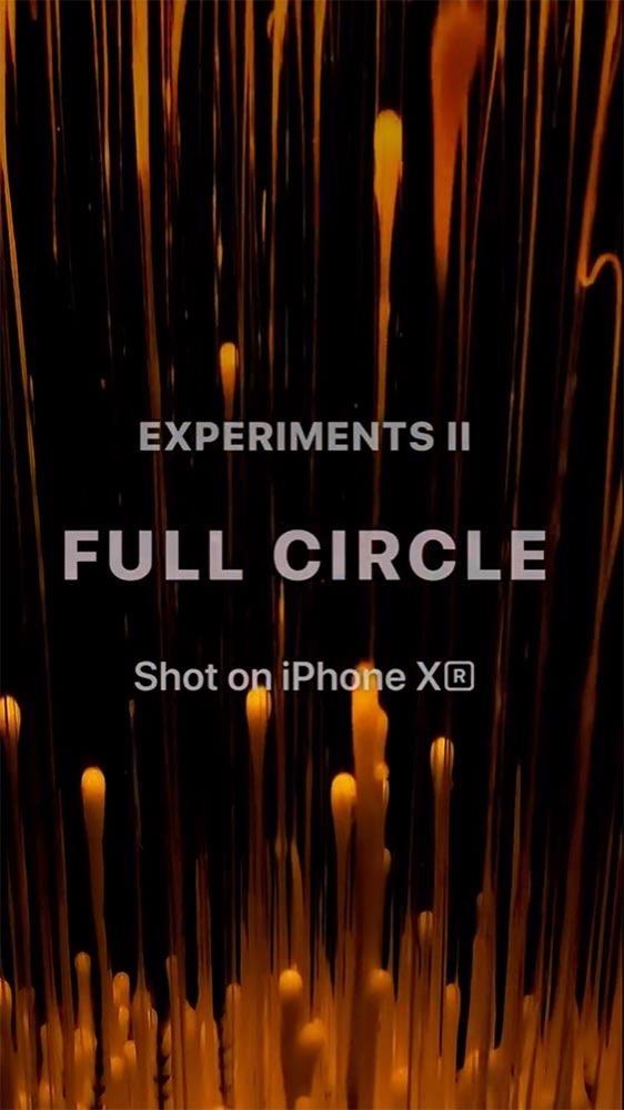 米Apple、「iPhone XR」を32台を使って撮影した実験動画「Experiments II: Full Circle」を公開 ー メイキングも公開